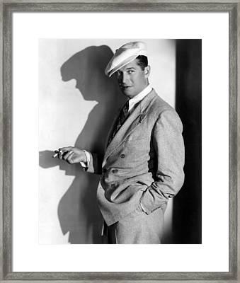 Maurice Chevalier, Ca. 1930s Framed Print by Everett