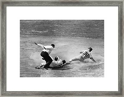 Maury Wills (1932- ) Framed Print