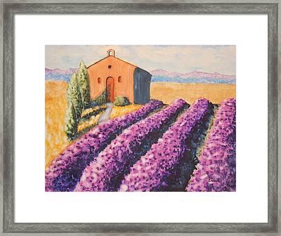Mausoleum And Lavender Framed Print