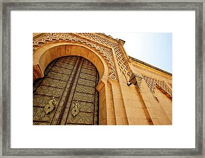 Mausoleum Of Mohammed V Framed Print by Kelly Cheng Travel Photography