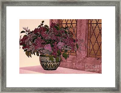 Framed Print featuring the photograph Mauve Bouquet by Ranjini Kandasamy