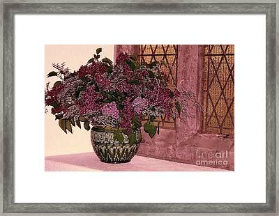 Mauve Bouquet Framed Print