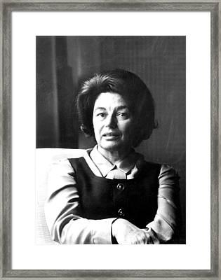 Mavis Gallant, Early 1970s Framed Print by Everett