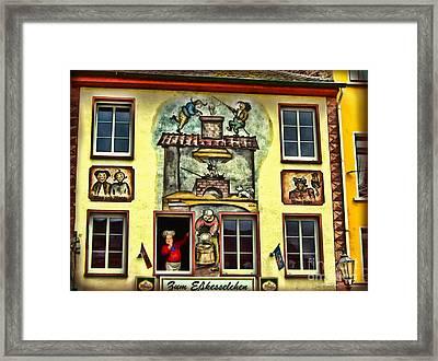 Max And Moritz Framed Print by Joan  Minchak