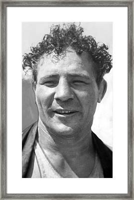 Max Baer Sr. 1909-1959 During Workout Framed Print by Everett