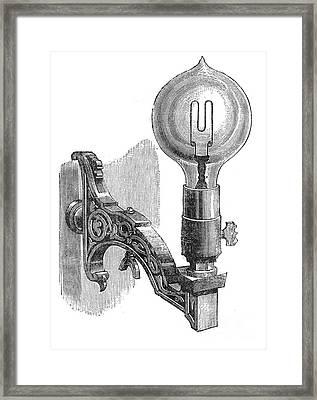 Maxim Incandescent Lamp Framed Print by Granger