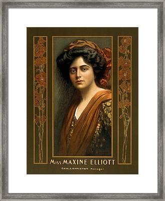 Maxine Elliott 1868-1940 An Actress Framed Print by Everett