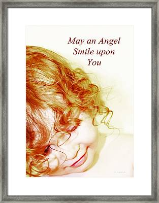 May An Angel Smile Upon You - Greeting Card And Print Framed Print by Kerri Ligatich