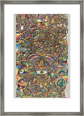 Maya Creation Framed Print by Jonathan DiNo DiNapoli
