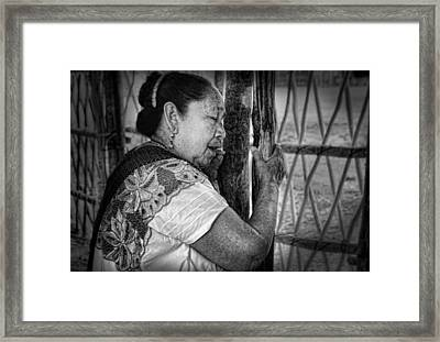 Maya Woman Framed Print by Andrew Xenios