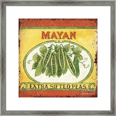 Mayan Peas Framed Print by Debbie DeWitt