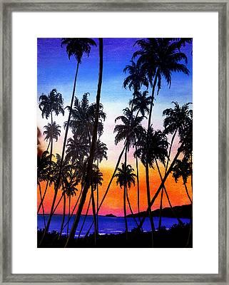 Mayaro Red Dawn Framed Print by Karin  Dawn Kelshall- Best