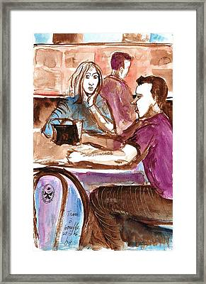 Maybe Lovers Framed Print by Ion vincent DAnu
