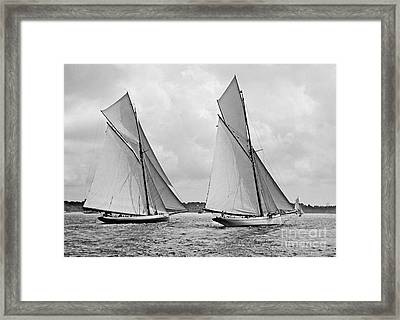 Mayflower And Galatea Start America's Cup 1886 Framed Print