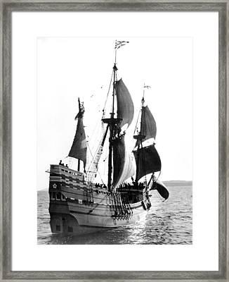 Mayflower II, Plymouth Harbor Framed Print by Everett