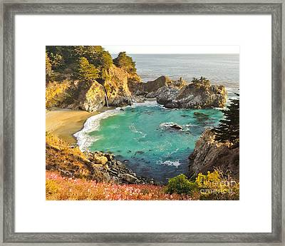 Mc Way Falls Cove Framed Print