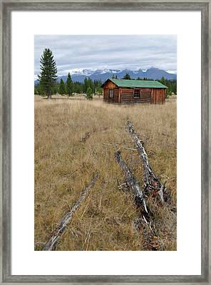 Mccarthy Family Cabin Glacier National Park Framed Print by Bruce Gourley
