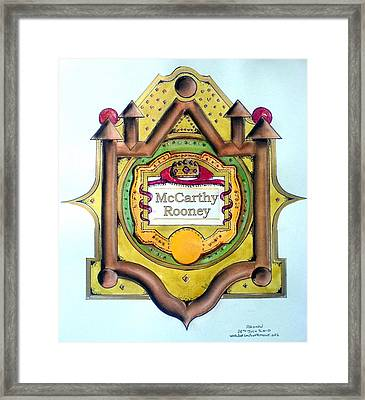 Mccarthy-rooney Family Crest Framed Print