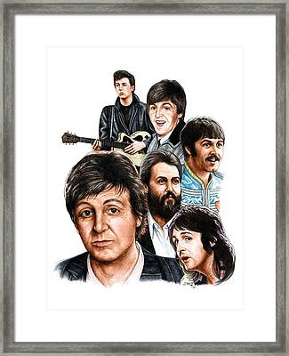 Mccartney - Heart Of The Band  Framed Print by Jonathan W Brown