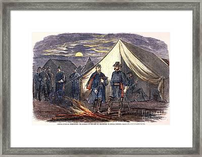 Mcclellan & Burnside, 1862 Framed Print by Granger
