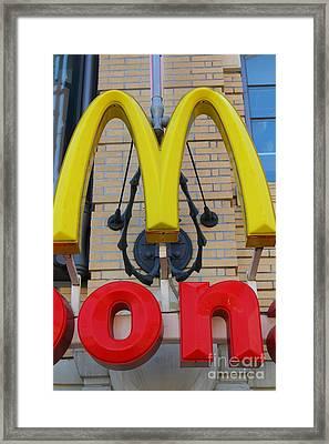 Mcdonalds Hamburger Restaurant . Fishermans Wharf . San Francisco California . 7d14250 Framed Print