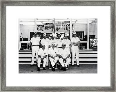 Mcdonalds Restaurant Original Crew Framed Print by Everett