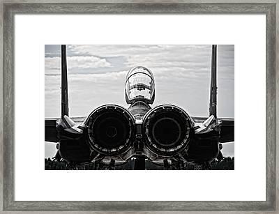 Mcdonnel Douglas F-15 Back View Framed Print by Marta Holka