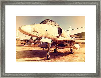 Mcdonnell Douglas Ta-4j Skyhawk Aircraft Fighter Plane . 7d11198 Framed Print by Wingsdomain Art and Photography