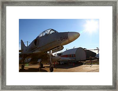 Mcdonnell Douglas Ta-4j Skyhawk Aircraft Fighter Plane . 7d11302 Framed Print by Wingsdomain Art and Photography