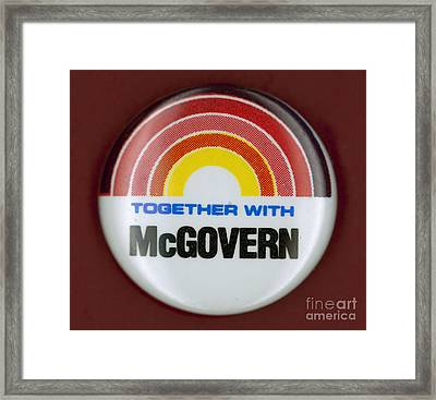 Mcgovern Campaign Button Framed Print