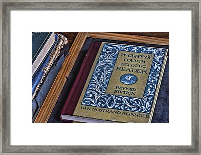 Mcguffey Reader Framed Print