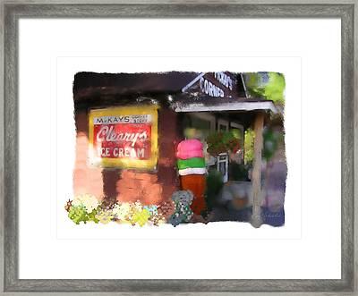 Mckays Corner Store Framed Print by Geoff Strehlow