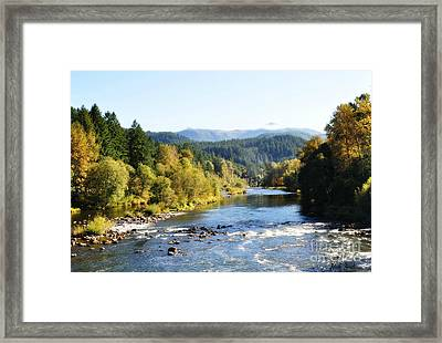 Framed Print featuring the photograph Mckenzie River  by Mindy Bench