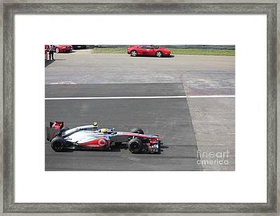 Mclaren - Lewis Hamilton Framed Print by David Grant
