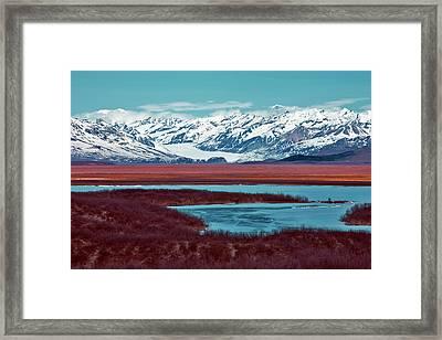 Mclaren Glacier Framed Print by Rick Berk