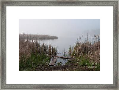 Mclaughlin Bay In The Fog At The Shore Framed Print by Gary Chapple