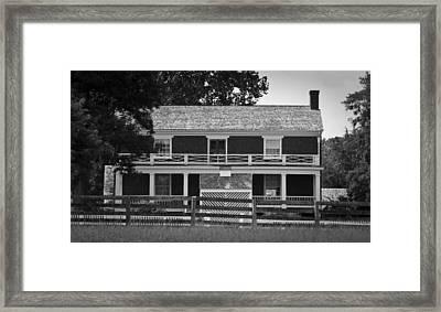 Mclean House Bw Appomattox Virgnia Framed Print by Teresa Mucha