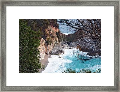 Mcway Falls In Spring Framed Print by Tonia Noelle