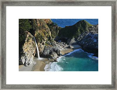 Framed Print featuring the photograph Mcway Falls by Lynn Bauer