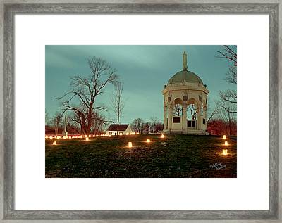 Md. Monument And Dunker Church 11 Framed Print by Judi Quelland