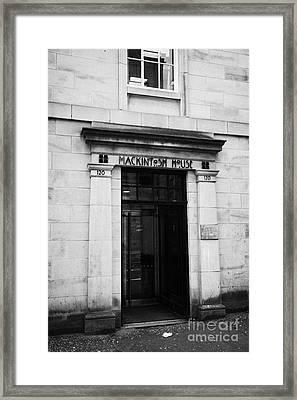 Mddus Medical And Dental Defence Union Of Scotland In Mackintosh House Glasgow Scotland Uk Framed Print by Joe Fox