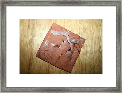 Me - Tile Framed Print by Gloria Ssali