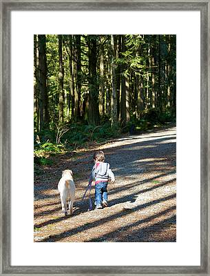 Me And My Buddy Framed Print
