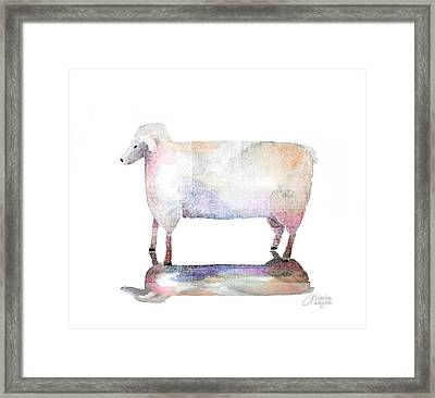 Me And My Colorful Shadow Framed Print by Arline Wagner