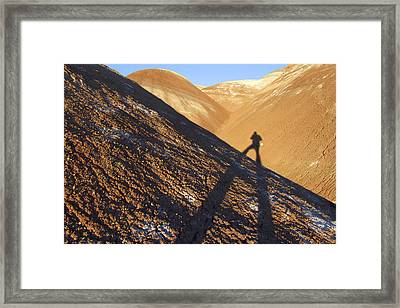 Me And My Shadow - Utah Framed Print by Mike McGlothlen
