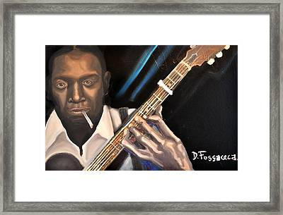 Me And The Devil Blues-robert Johnson Framed Print