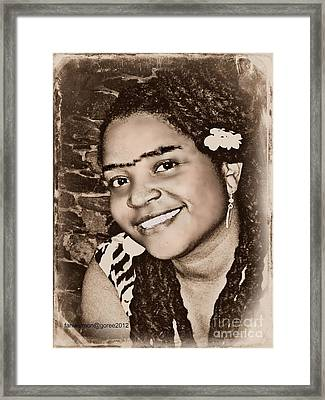 Me As Frida Framed Print by Fania Simon