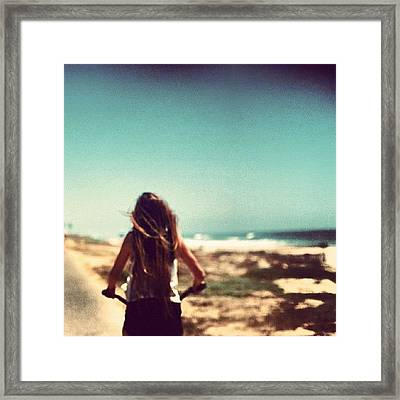 #me #beach #summer #loving #picture Framed Print by Isidora Leyton