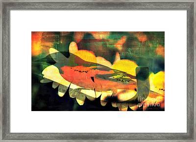 Me Bird Flower Framed Print by Fania Simon