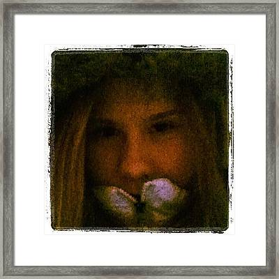 #me #edit #pretty #beautiful #beauty Framed Print by Jamiee Spenncer
